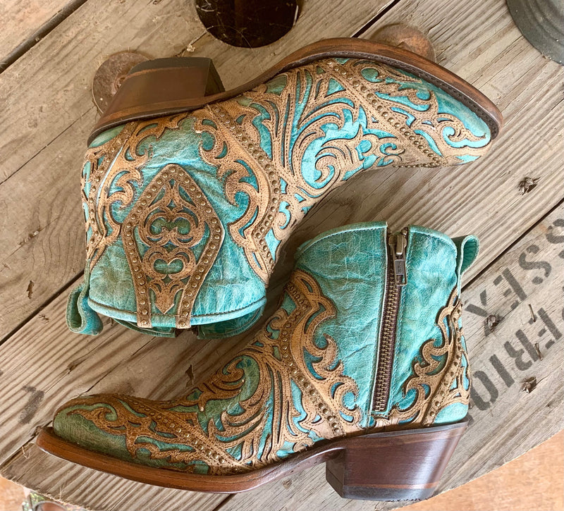 Corral Turquoise Stud Bootie