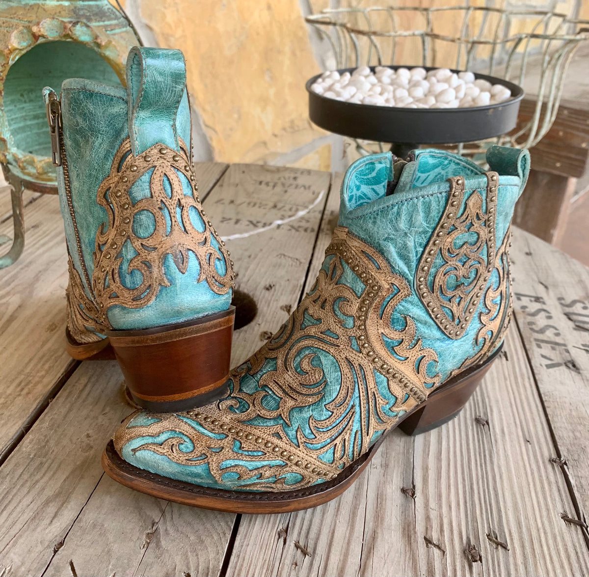 Corral Turquoise Tuesday Bootie