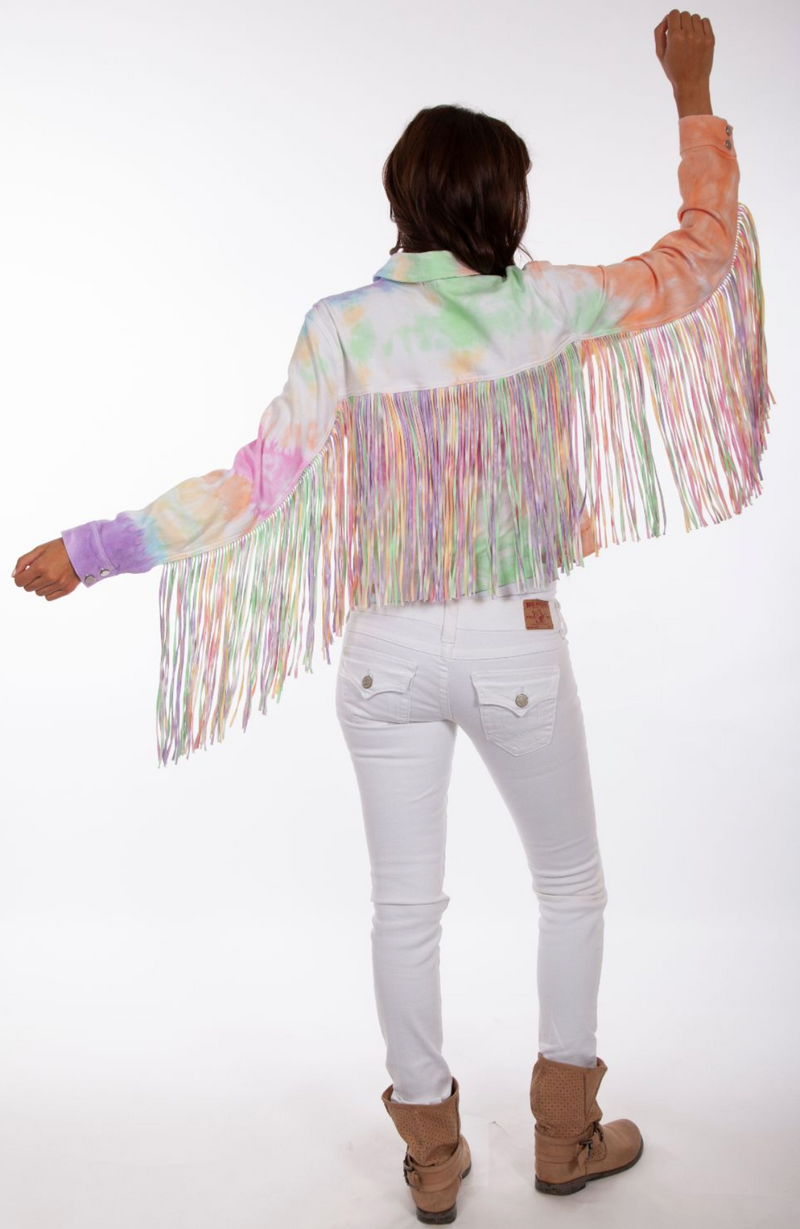Skully Unicorn Farts Fringe Jacket