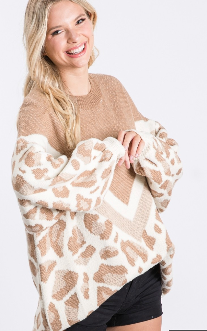 On The Prowl Leopard Sweater