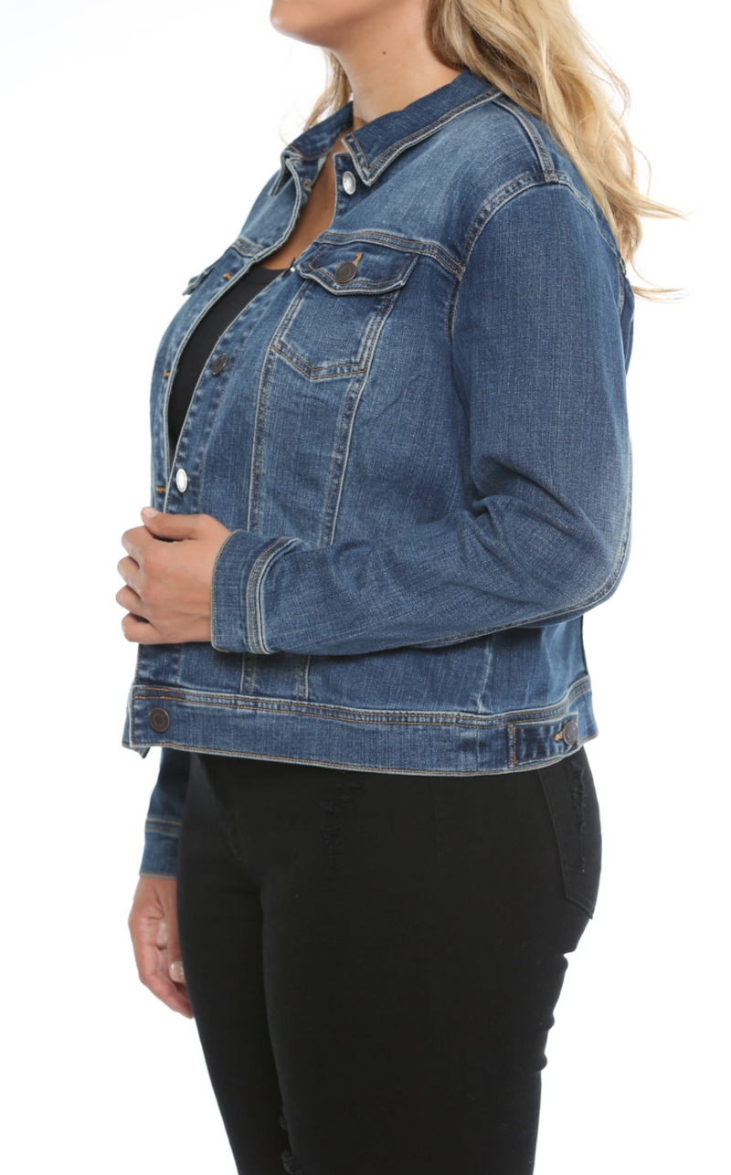So Basic Plus Size Denim Jacket