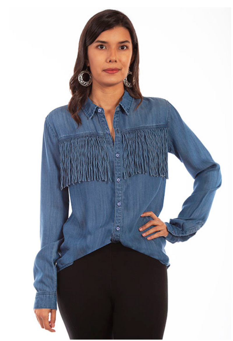 Scully Fringe Denim Top