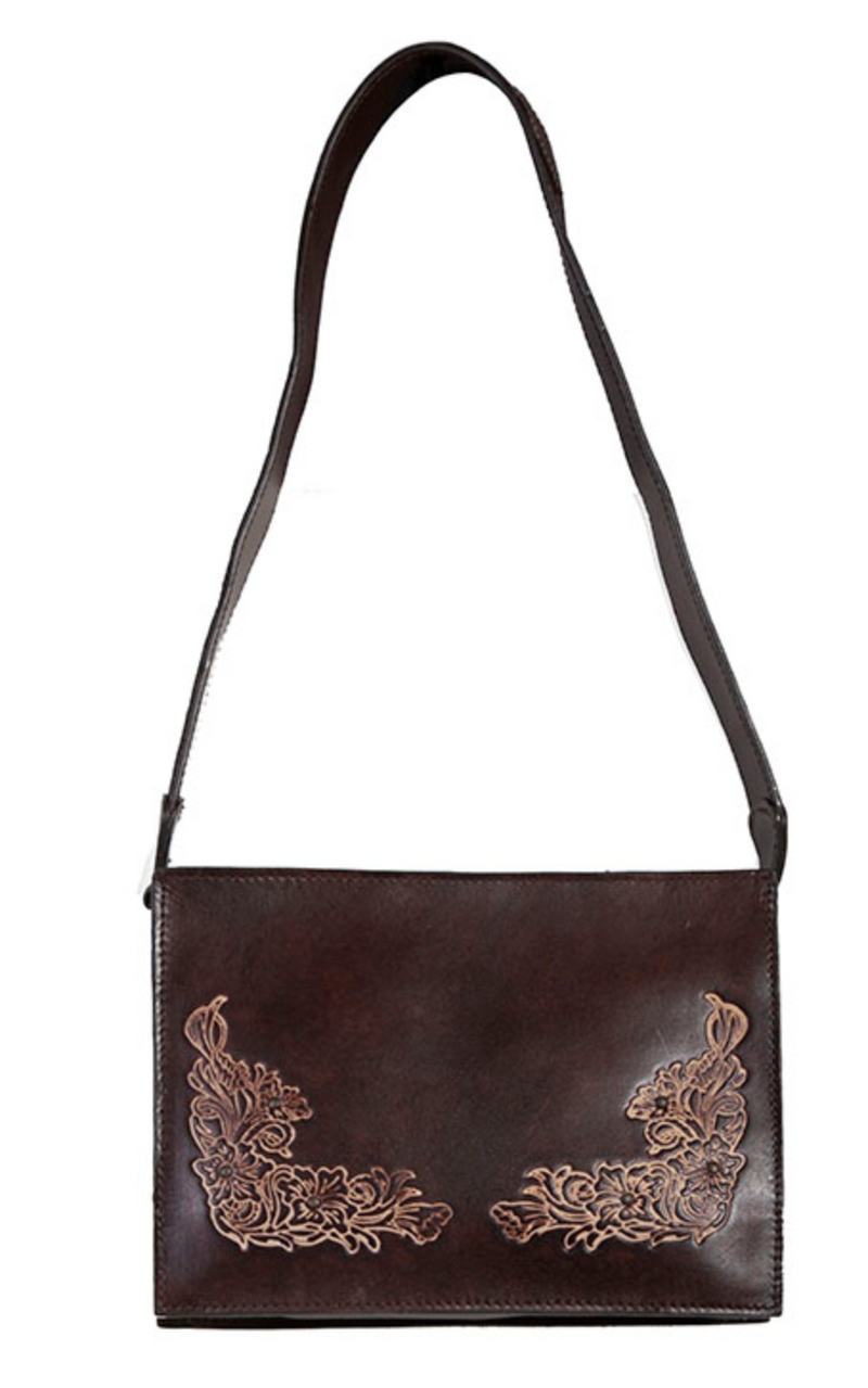 Scully Studded Flowers Handbag