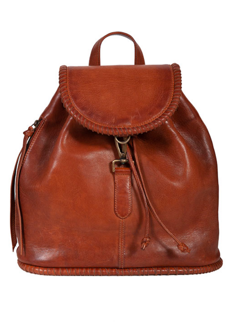 Scully Leather Stitched Backpack