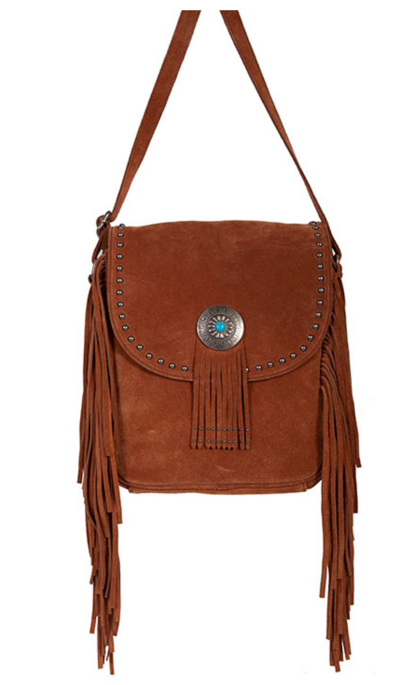 Scully Studded Concho Crossbody