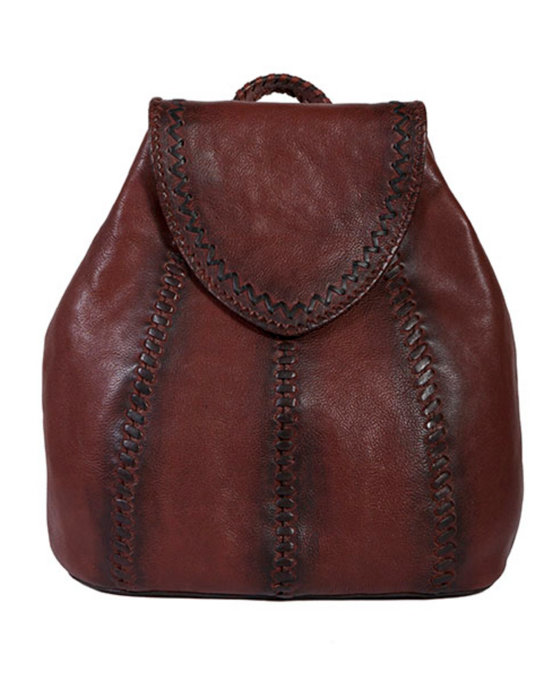 Scully Stitched Up Leather Backpack