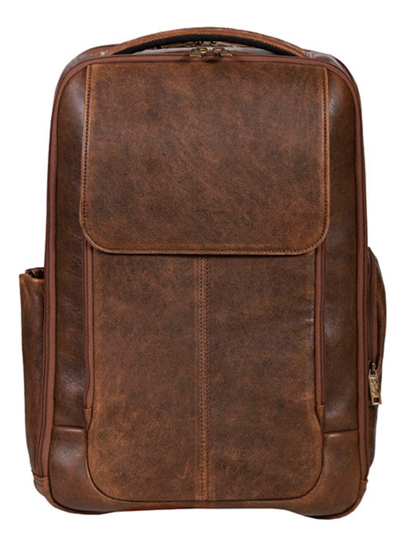 Scully Leather Flap Backpack