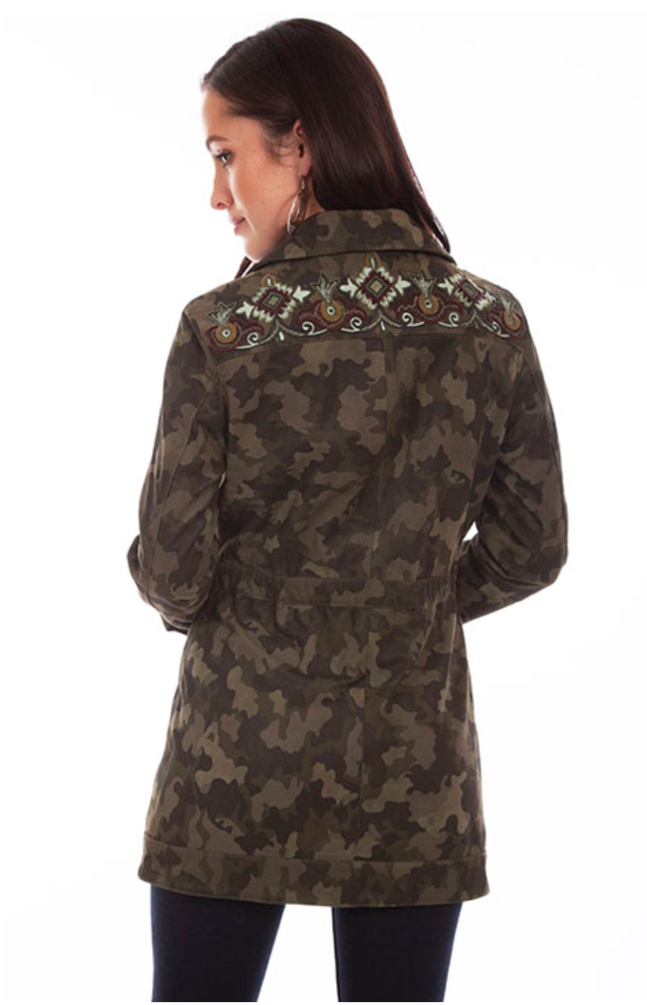 Scully Camo Beaded Jacket