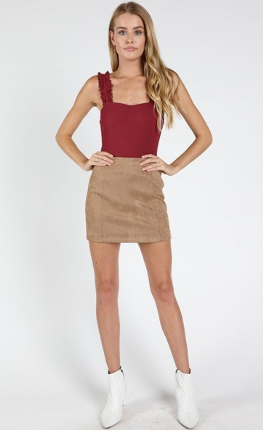 Alyssa Suede Mini Skirt