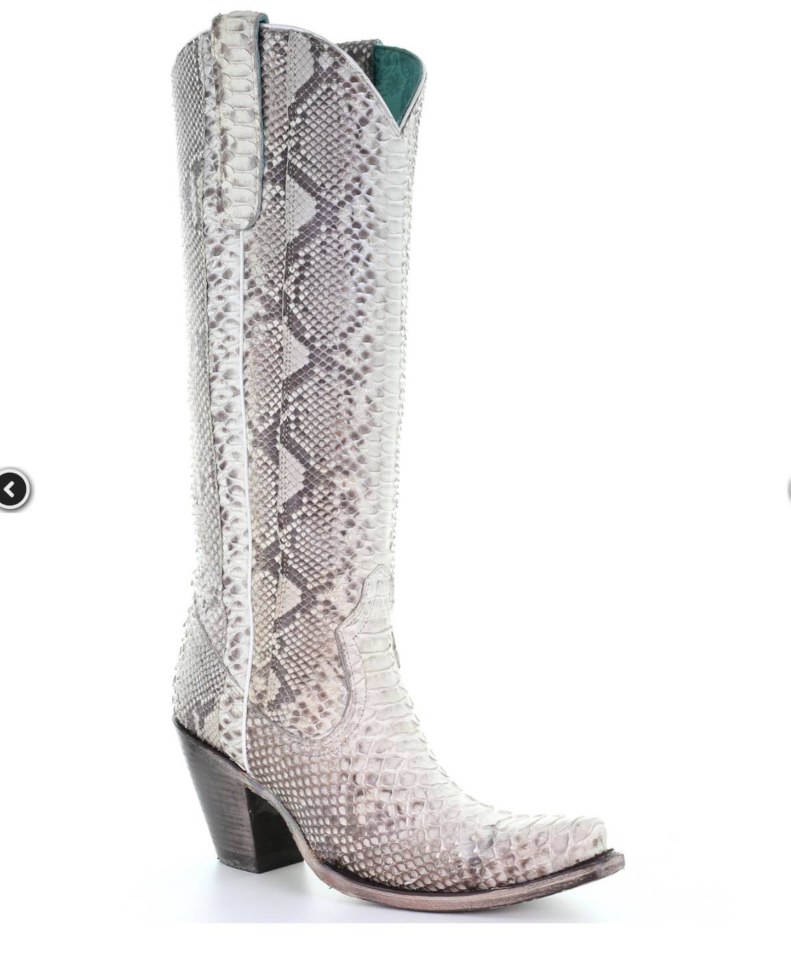 Corral Natural Python Tall Boots