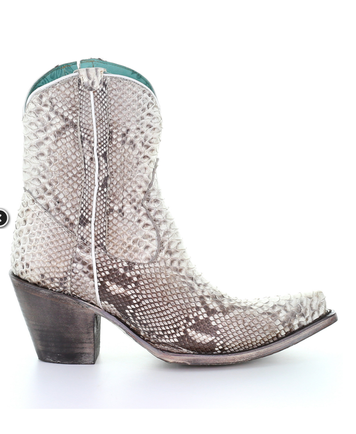 Corral Natural Python Ankle Boot
