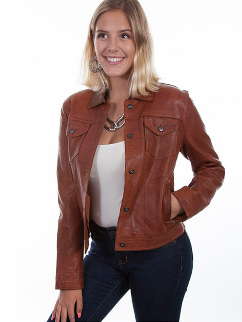Scully Leather Brown Bomber Jacket