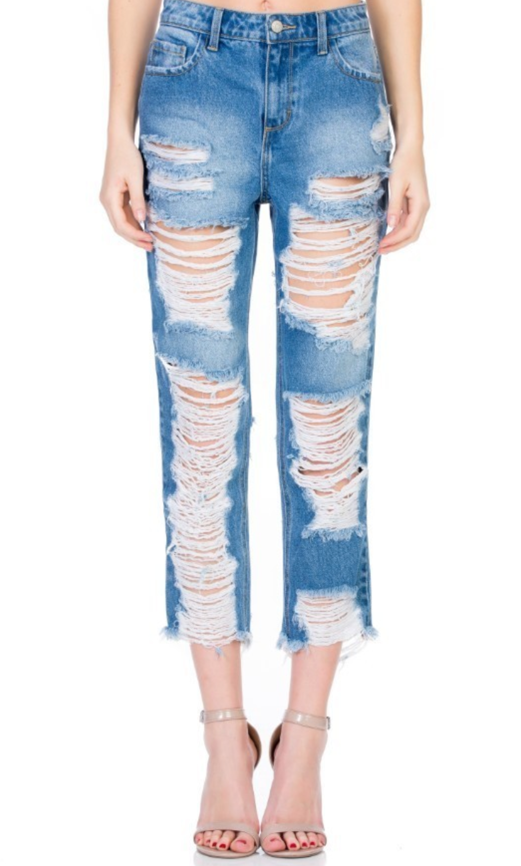 No Sensor Extreme Distressed Jeans