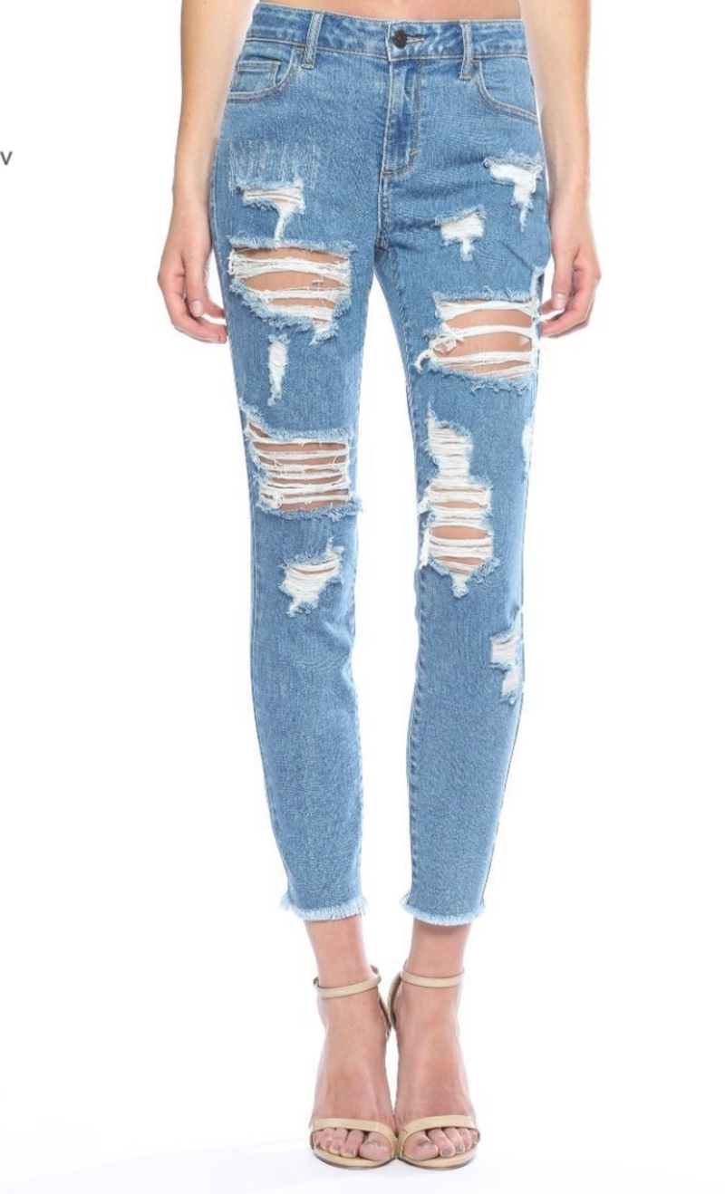 The Darci Distressed Skinny Jeans