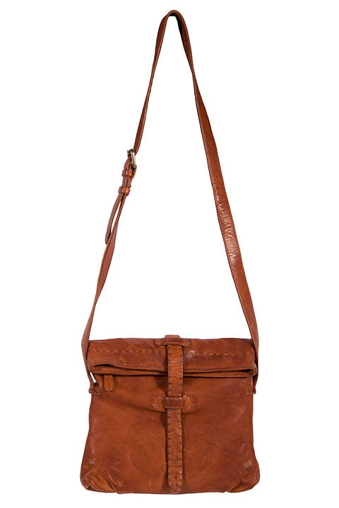 Scully Lambskin Brown Leather Bag