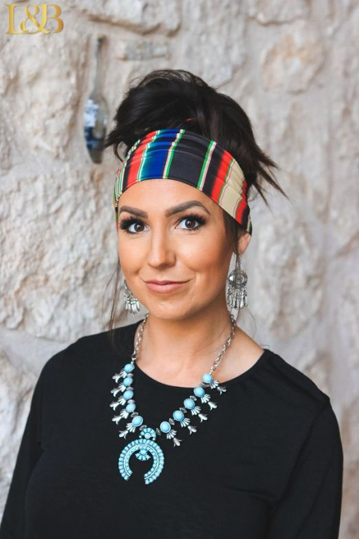 Black Serape Headband