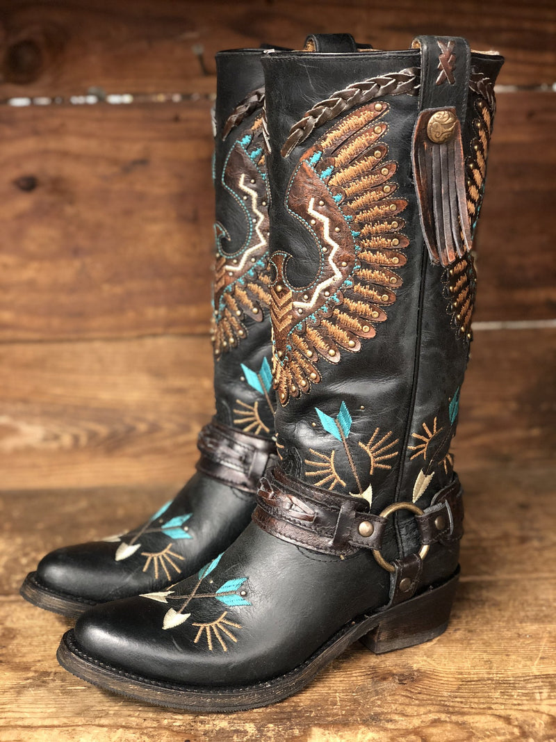 Corral Painted Eagle Biker Boot