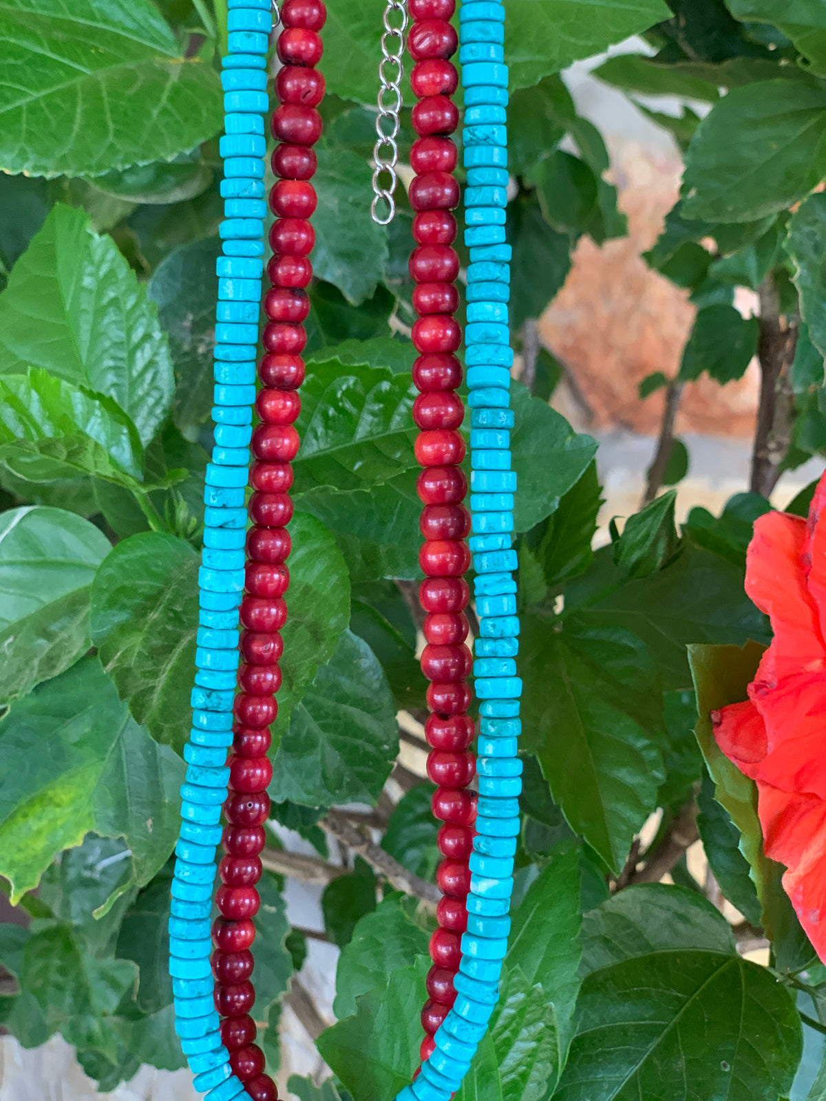 Ruby Slipper Coral Choker