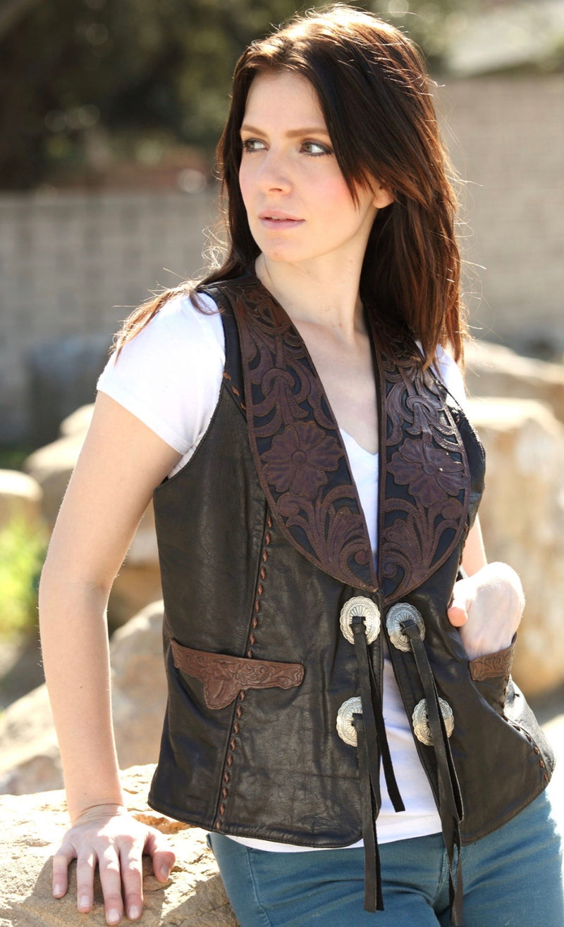 Wild Wild West Tooled Vest