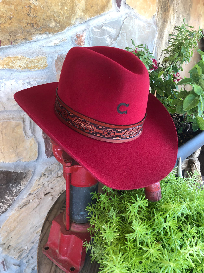 Charlie 1 Horse - Chief Hat in Red