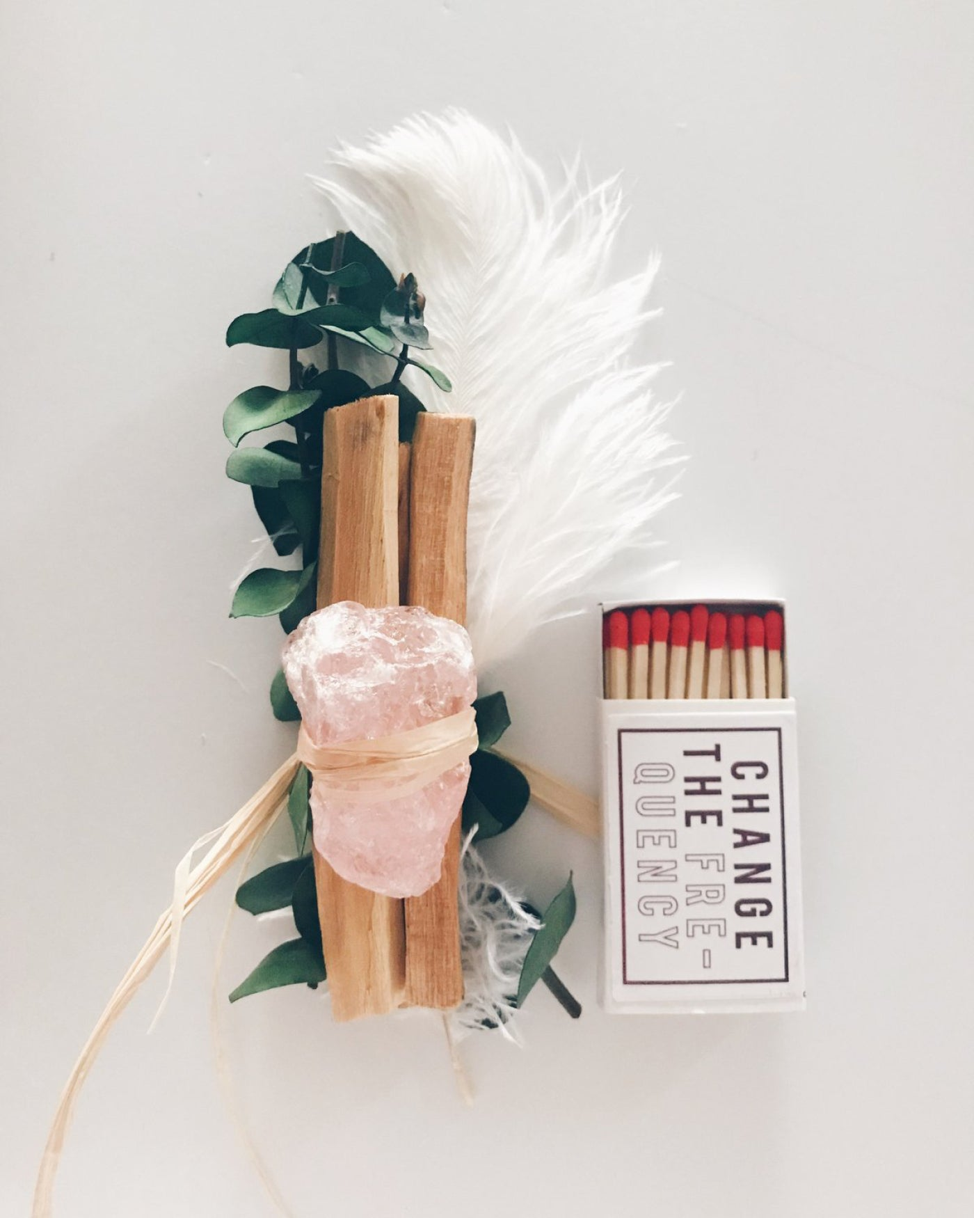 ROSE QUARTZ + EUCALYPTUS + PALO SANTO BUNDLE