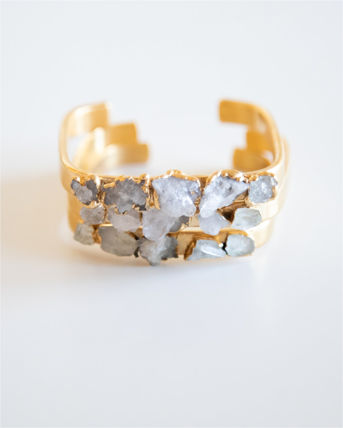 QUARTZ SQUARE GOLD CUFF