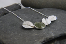 Load image into Gallery viewer, Green Sapphire and Leaf Statement Necklace