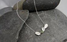 Load image into Gallery viewer, Green Sapphire and Leaf Necklace