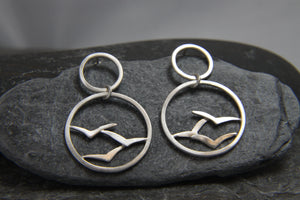 Soaring High Flock of Gulls Earrings