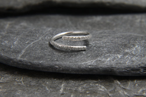 Hammered Adjustable Wrap Ring