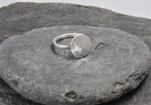 Reflections on the Sea Pebble Ring - Lucy Symons Jewellery
