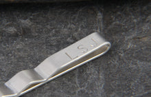 Load image into Gallery viewer, Hammered Silver Tie Clip - Lucy Symons Jewellery