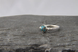 Copper Veined Turquoise Ring