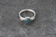 Load image into Gallery viewer, Copper Veined Turquoise Ring