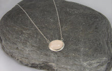 Load image into Gallery viewer, Sterling Silver Rose Quartz Pendant