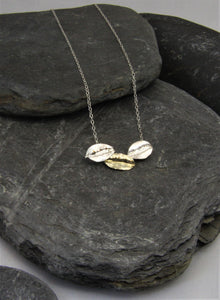 9ct Gold and Sterling Silver Leaf Necklace