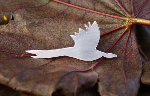 Flying Pheasant Lapel Pin - Lucy Symons Jewellery