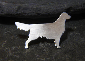 Golden Retriever Lapel Pin - Lucy Symons Jewellery