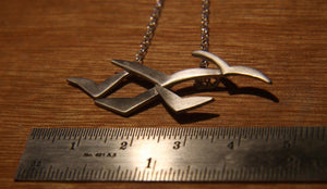 Soaring High Flock of Gulls Necklace - Lucy Symons Jewellery