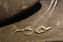Load image into Gallery viewer, Soaring High Flock of Gulls Necklace - Lucy Symons Jewellery