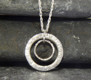 Double Circle Pendant - Lucy Symons Jewellery