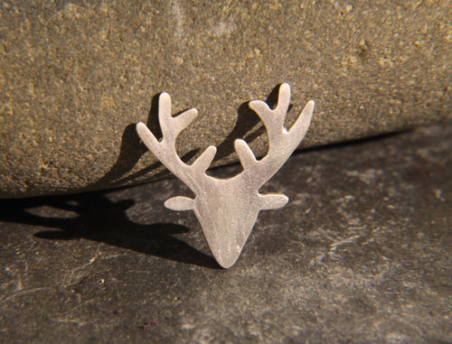 Stag Head Lapel Pin - Lucy Symons Jewellery
