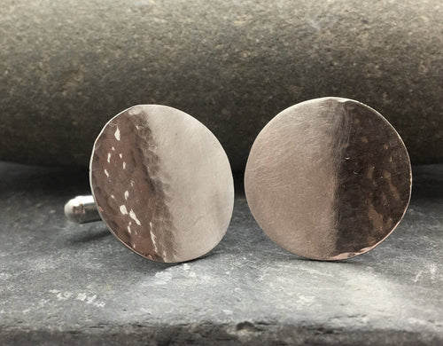 Reflections on the Sea Disc Cufflinks - Lucy Symons Jewellery