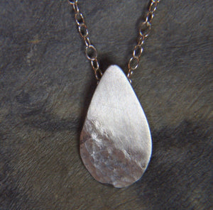Reflections on the Sea Tear Drop Pendant - Lucy Symons Jewellery