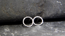 Load image into Gallery viewer, Hammered Circle Stud Earrings - Lucy Symons Jewellery