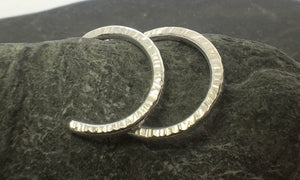 Hammered Hoop Earrings - Lucy Symons Jewellery