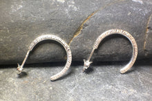 Load image into Gallery viewer, Hammered Hoop Earrings - Lucy Symons Jewellery