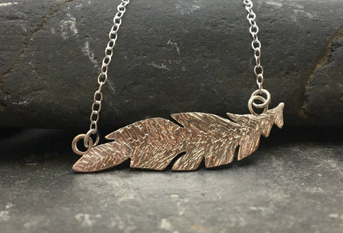 Feather Necklace - Lucy Symons Jewellery