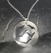 Load image into Gallery viewer, Flock of Seagulls Pendant - Lucy Symons Jewellery