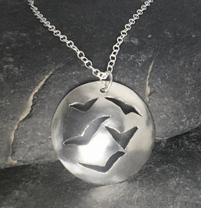 Flock of Seagulls Pendant - Lucy Symons Jewellery